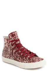 Converse Men's Chuck Taylor All Star Ii 'Rubber' Water Repellent High Top Sneaker Red Block Buff