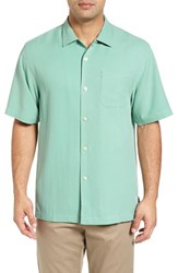 Tommy Bahama Men's Big And Tall 'Catalina Twill' Short Sleeve Silk Camp Shirt Key Largo Green