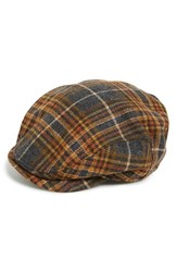 Men's Wigens Plaid Wool Driving Cap