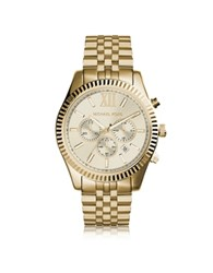 Michael Kors Lexington Gold Tone Stainless Steel Men's Chrono Watch