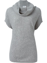 Vince Short Sleeve Sweater Grey