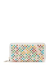 Christian Louboutin Panettone Spike Embellished Leather Wallet White Multi