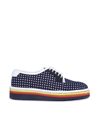 Swear Louise 1 Perforated Neo Flat Shoes Navy