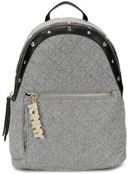Tommy Hilfiger Quilted Effect Backpack Grey
