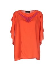 Clips Shirts Blouses Women Red