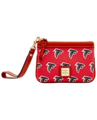 Dooney And Bourke Atlanta Falcons Exclusive Wristlet Red