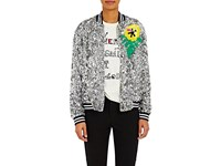 Mira Mikati Women's Sequined Bomber Jacket Silver