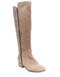 Steve Madden Pullon Suede Knee High Boots Taupe