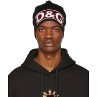 Dolce And Gabbana Black Logo Beanie