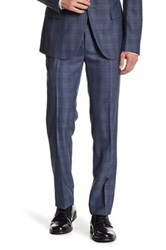 Paisley And Gray Navy Plaid Flat Front Pant 30 32 Inseam Blue