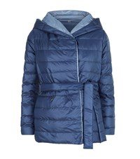 Max Mara Maxmara Weekend Reversible Puffer Jacket Female Blue