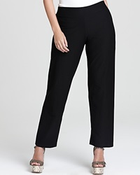 Eileen Fisher Plus Size Stretch Crepe Straight Pants Black