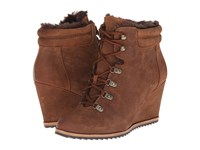 Dr. Scholl's Izetta Original Collection Brown Oil Leather Women's Cold Weather Boots
