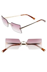 Kendall Kylie Grace 53Mm Rimless Rectangular Sunglasses Light Gold Rose Gradient Light Gold Rose Gradient