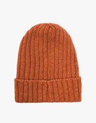 Beams Plus B Wool Watch Cap In Orange