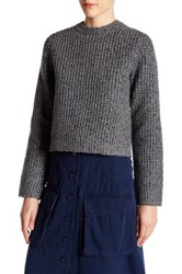 Marc By Marc Jacobs Super Merino Wool Blend Sweater Gray