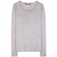 Dear Cashmere Cotton And Cashmere Sweater Grey Melange