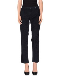 High Trousers Casual Trousers Women Dark Blue