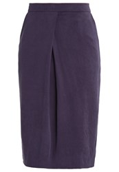 And Less Genista Pencil Skirt Dark Blue