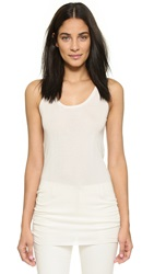 Tess Giberson Elongated Tank White
