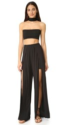 Torn By Ronny Kobo Meredith Two Piece Dress Black