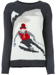 Woolrich Ski Pattern Jumper Grey