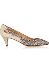 Isabel Marant A Toile Gumy Glitter Finished Leather Pumps