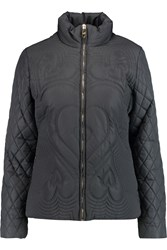 Love Moschino Embroidered Shell Jacket Gray