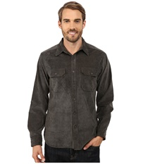 Royal Robbins Grid Cord Long Sleeve Shirt Petrified Oak Men's Long Sleeve Button Up Black