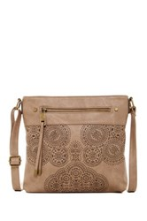 T Shirt And Jeans Easy Street Perforated Crossbody Brown