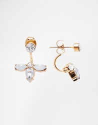 New Look Crystal Sparkle Through And Through Earrings White