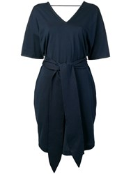 Brunello Cucinelli Short Sleeve Shift Dress Blue