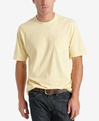 Izod Solid Double Layer Jersey Pocket T Shirt Sunlight