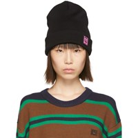 Off White Black Patch Beanie