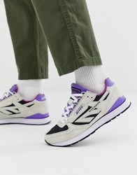 Hi Tec Silver Shadow Trainers In Grey And Purple