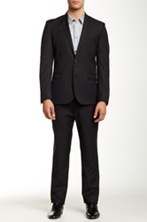 Ben Sherman Camden Super Slim Fit Wool Suit Gray
