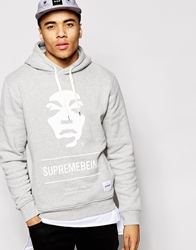Supreme Being Supremebing Iconoclast Hoodie Grey