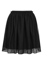 Topshop Tall Mini Tulle Skirt Black