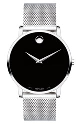 Movado Museum Mesh Strap Watch 40Mm