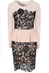 Alice And You Lace Overlayer Peplum Dress Multi Coloured