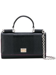 Dolce And Gabbana Wallet On Chain Women Calf Leather One Size Black