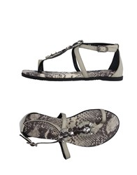 Apepazza Toe Strap Sandals Beige