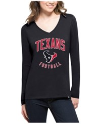 47 Brand '47 Women's Houston Texans Splitter Arch Long Sleeve T Shirt Navy
