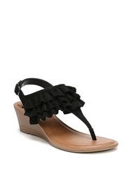 Fergalicious Swindle Slingback Wedge Sandals Black