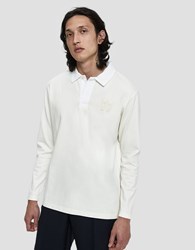 Wood Wood L S Oliver Polo Shirt Off White