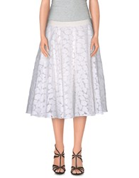 Emanuel Ungaro Skirts Knee Length Skirts Women White