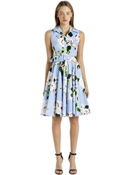 Samantha Sung Sleeveless Stretch Cotton Shirt Dress