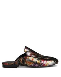 Kenneth Cole Wallice Metallic Leather Mules Gold