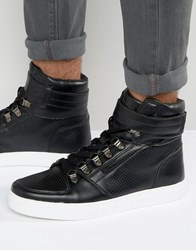 Rock And Religion High Top Trainers Black