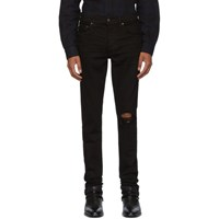 Amiri Black Broken Jeans